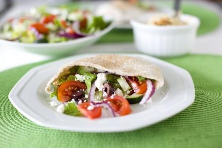 greek salad pita pocket | recipe box | Pinterest