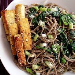 Garlic Parmesan Soba Noodles with Tofu | Noodles, Pho & Ramen | Pinte ...