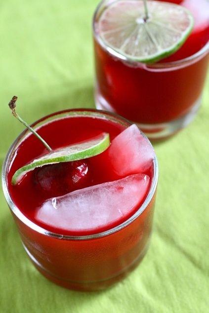 Fresh Cherry Margaritas | 5 o'clock state of mind | Pinterest