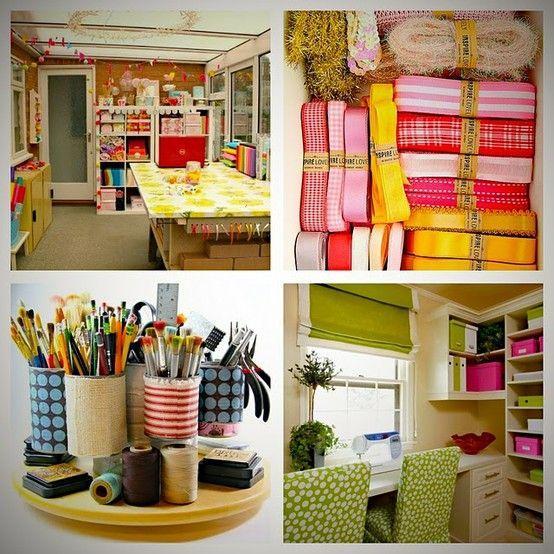 Organized Craft Room Ideas 554 x 554