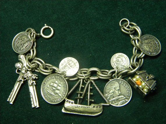 Vintage Pirates Booty charm bracelet.