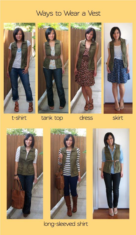 Womens fashion cargo vest 96