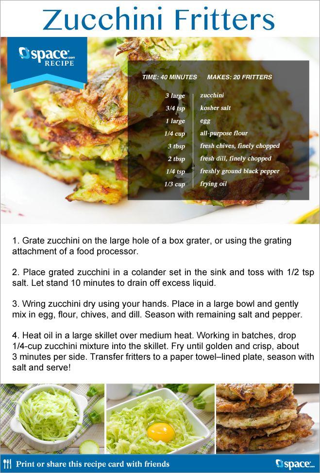 Zucchini Fritters / Jspace News | zuchini | Pinterest