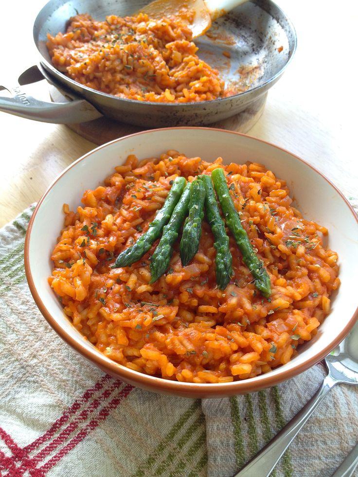 Risotto With Corn, Tomatoes & Basil Recipe — Dishmaps