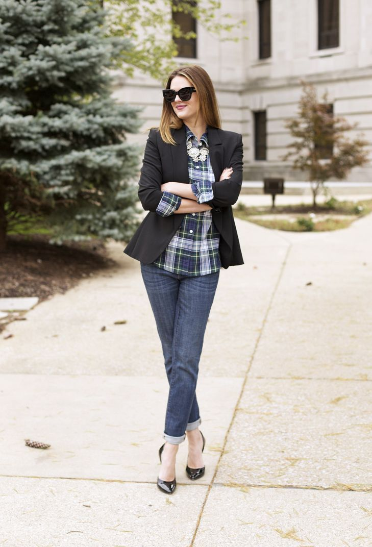 What I Wore | Glam Plaid, Jessica Quirk, How to wear a plaid shirt, whatiwore.tumblr.com