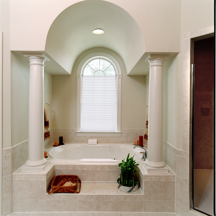 custom master bath arched ceiling for the home pinterest