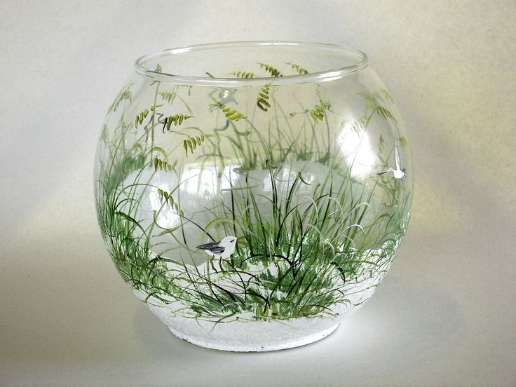 hand painted glass hand painted pinterest