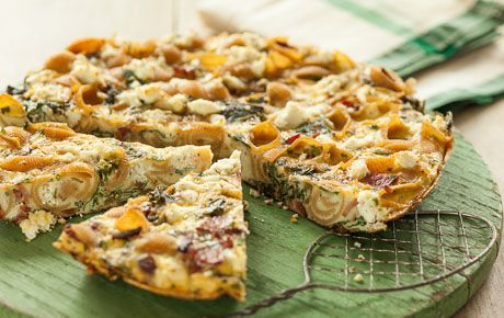 ... , rich cheese and pasta, this main course frittata is irresistible