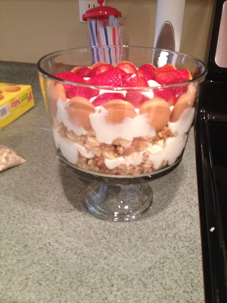 Tropical Trifle- reduced fat nilla wafers, white chocolate sugar free ...