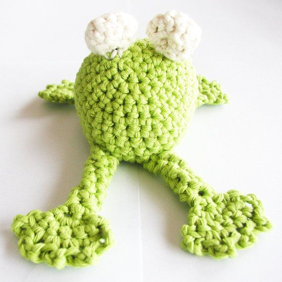 Crochet Frog Pattern - English (US terms) and Dutch version - Instant ...