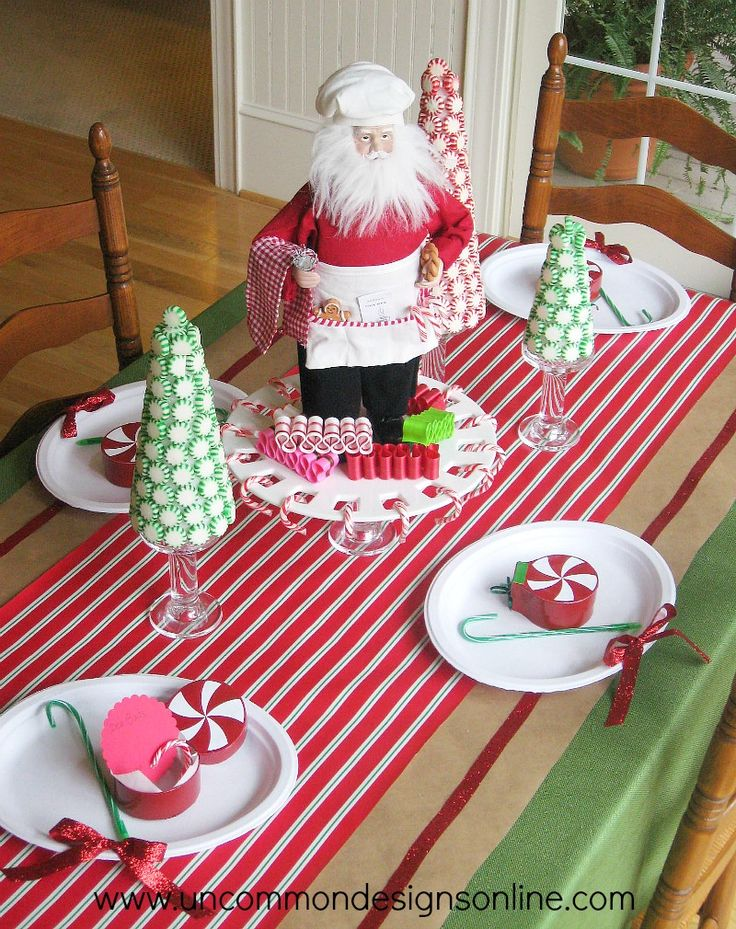 Santas Sweetshop Table with Dollar General