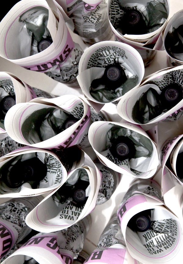 Client Xmas Gift 2011 Wine Bottle by BRND WGN , via Behance