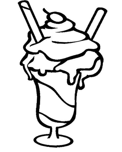 icecream sundae coloring pages - photo#20