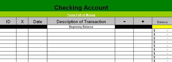 free bank account register spreadsheets search results calendar 2015. Black Bedroom Furniture Sets. Home Design Ideas
