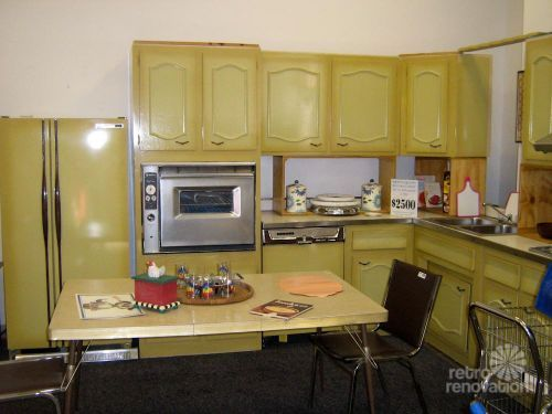 Never used! A 1960s harvest gold kitchen for sale in Worcester, Mass
