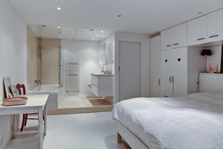Tegels Badkamer Houtlook ~ Badkamer Haarlem  Slaapkamer met open badkamer Nieuwe Kruisstraat