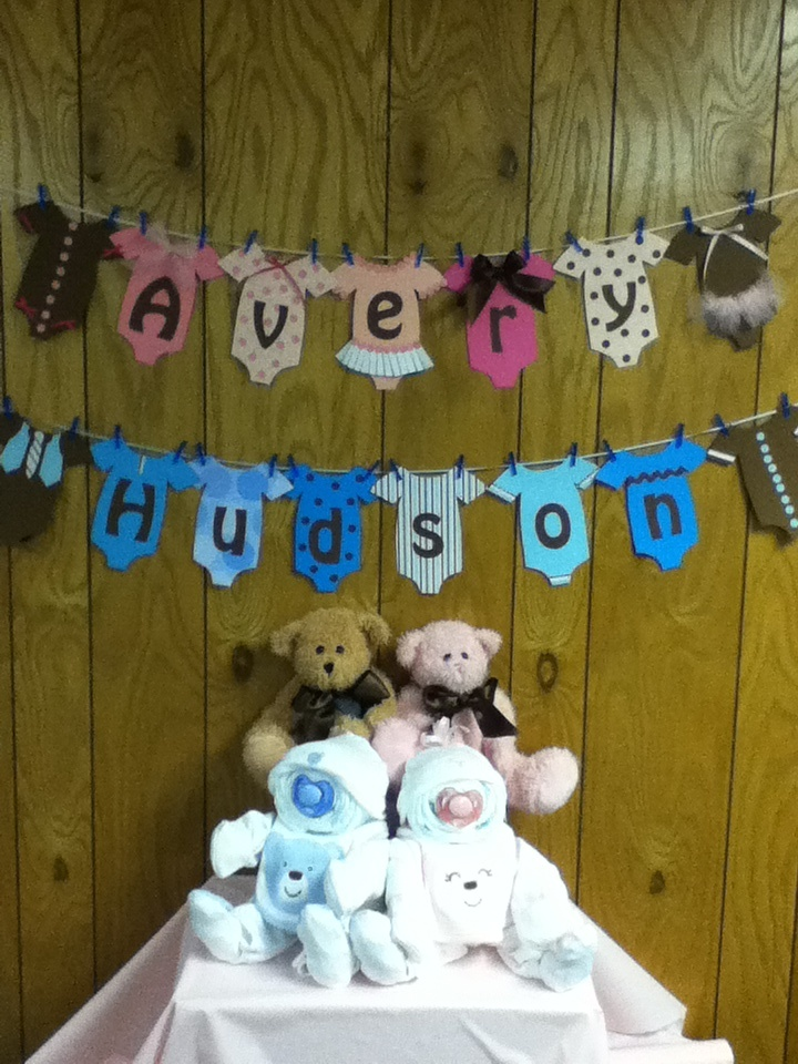twin baby shower decorations twins pinterest