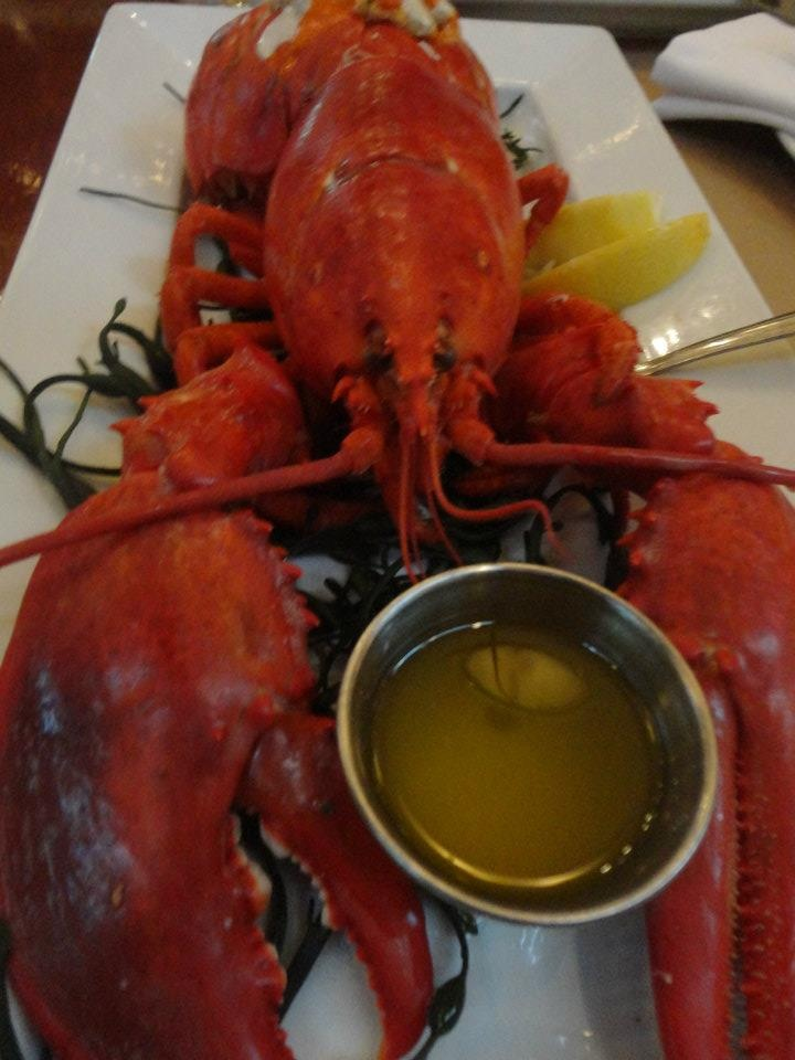 Butter makes everything better. Steamed lobster with drawn butter. Yum ...