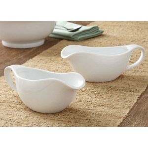 Better homes and gardens gravy boats white set of 2
