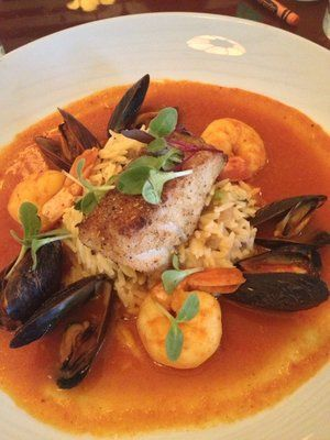 Seafood Cioppino - sauteed white shrimp, Prince Edward Island mussels ...