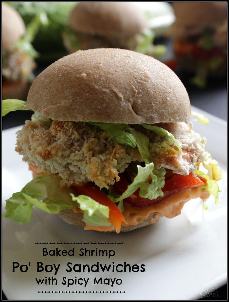 Baked Shrimp Po' Boy Sandwiches with Spicy Mayo | Recipe