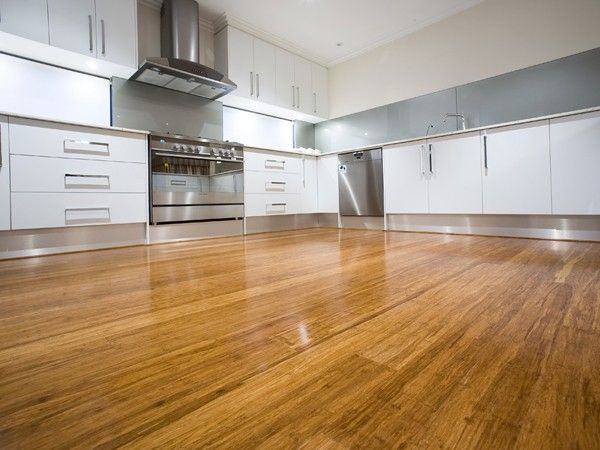 Strand woven bamboo flooring modern kitchen design ideas for Contemporary kitchen flooring ideas