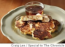 ... pudding pancakes with cinnamon-sugar butter and vanilla maple syrup