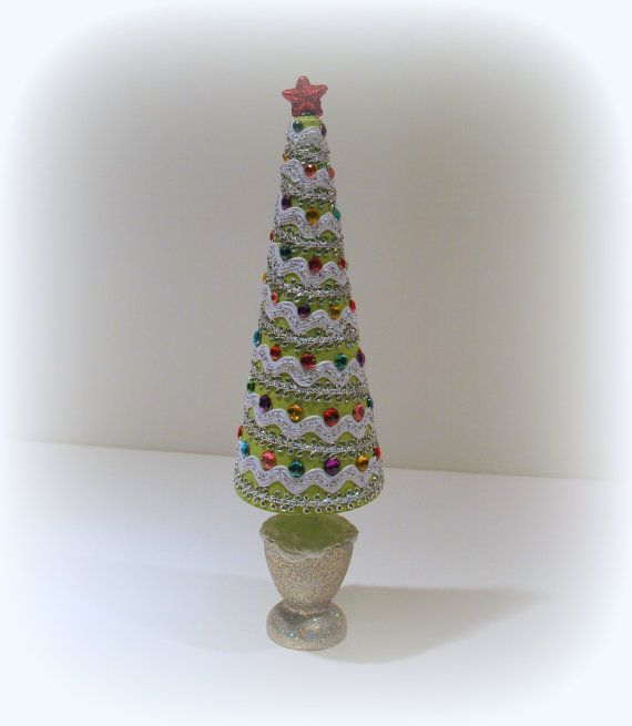 Christmas tree for table top or shelf by uniqueboxboutique on etsy