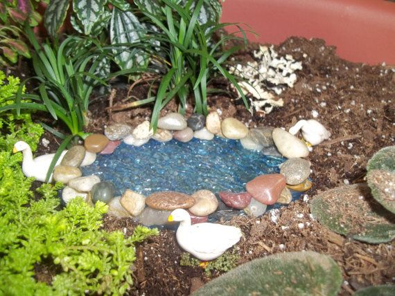 Fairy garden pond for Making a garden pond