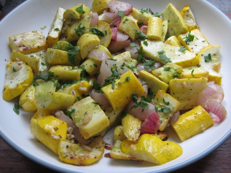 Roasted Summer Squash | Health and Wellness | Pinterest