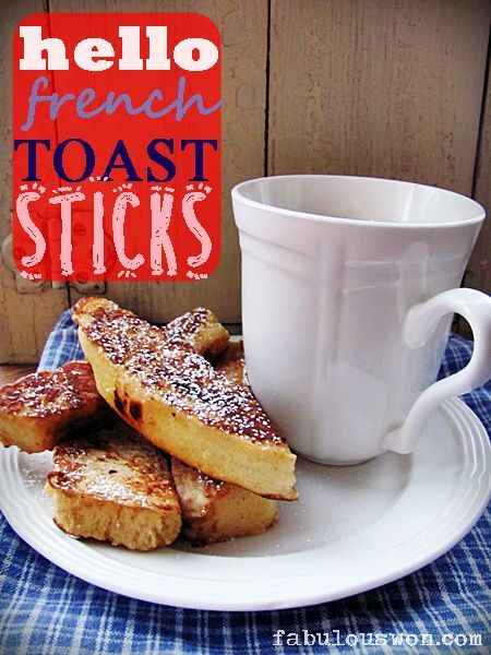 hELLO fRENCHy! toast sticks #recipe | Easy Food Recipes | Pinterest