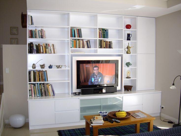 Custom Bookcase Tv Unit Book Wall Pinterest