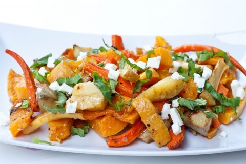 Roasted Vegetables with Basil and feta | To Your Health | Pinterest