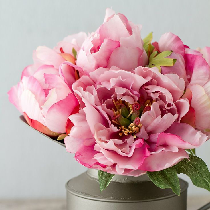 Silk Peony Bouquet, Pink in New SHOP Valentine's Day at Terrain