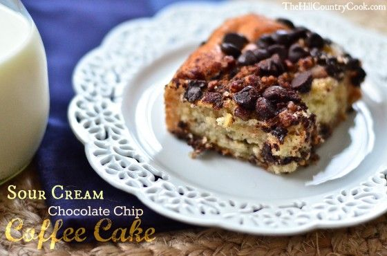 Sour Cream Chocolate Chip Coffee Cake | CaKeS | Pinterest