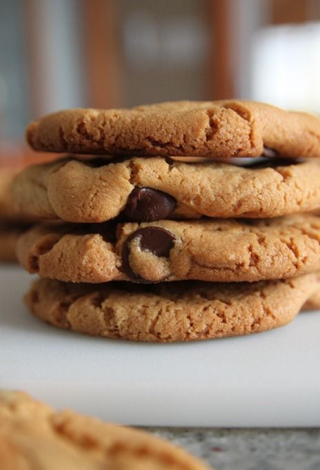 almond butter chip cookies 1 | Foodie Call!! | Pinterest