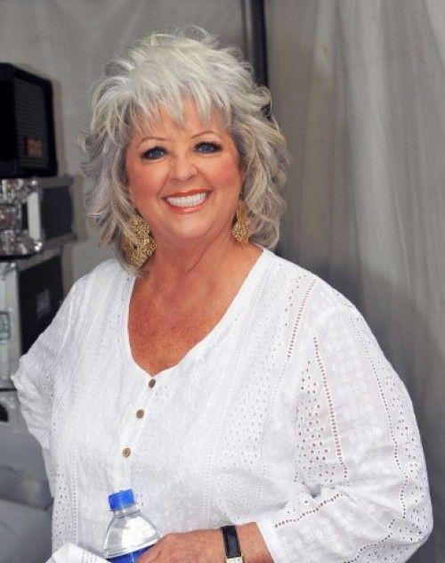 Paula Deens Tousled Gray Hair hairstyles Pinterest