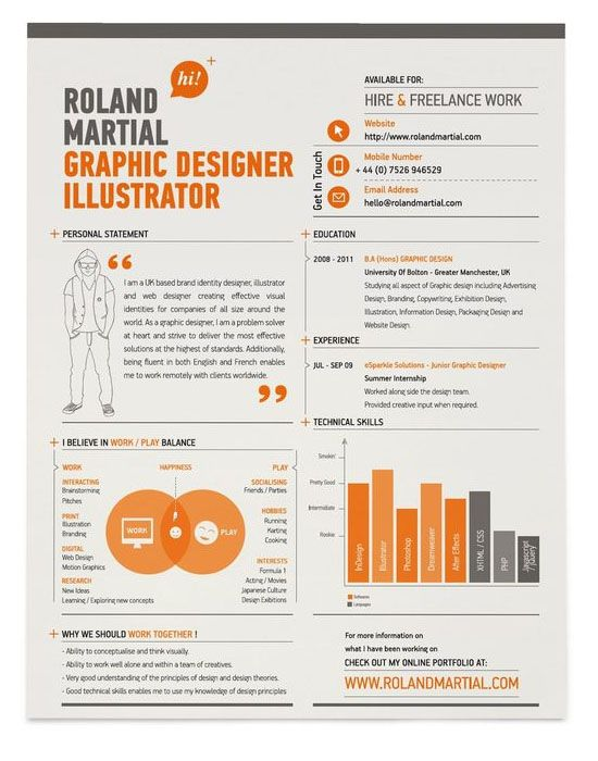 resume infographic resumes