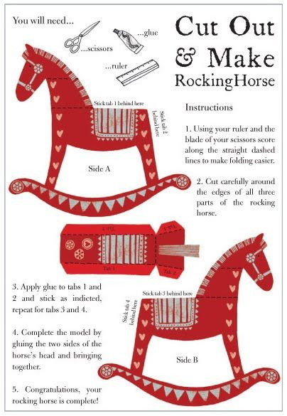 Rocking horse printable toy