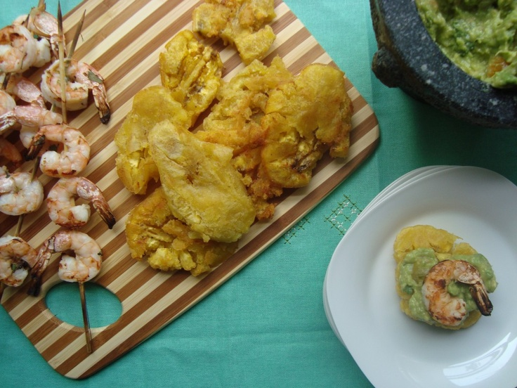 Tostones Y Camarones | What my friend's are making! | Pinterest
