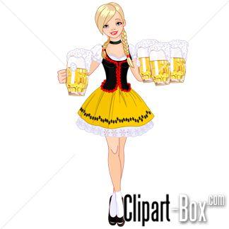 CLIPART BEER WAITRESS | CLIPARTS | Pinterest