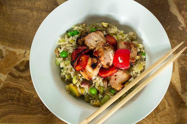 Thai-Style Chicken Rice Bowl   Edible Sound Bites Blog   Pinterest