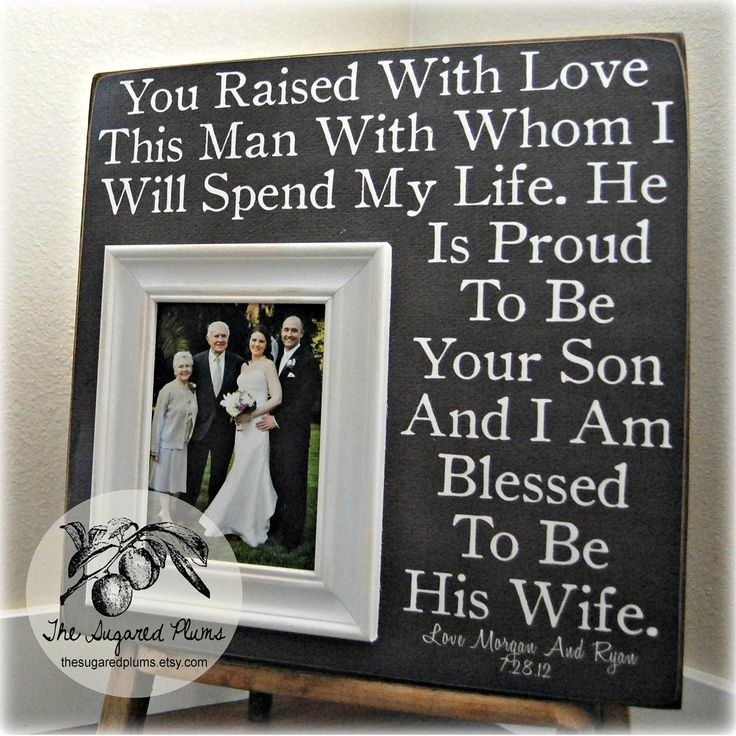Wedding Gift To Groom From Parents : Parents of the Groom Gift, Mother of the Groom, Father of the Groom ...