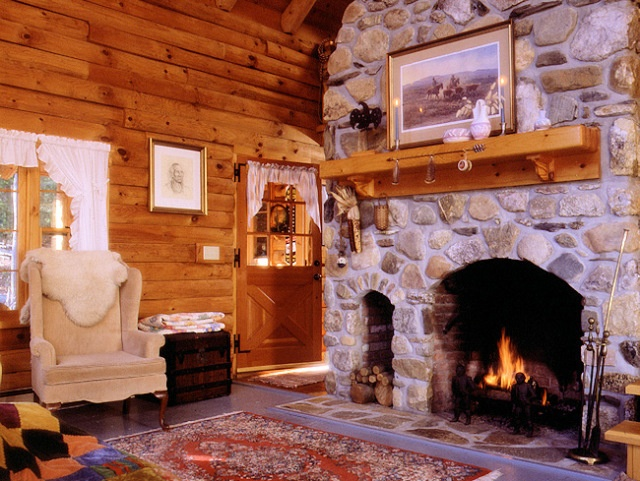 cabin fireplace cabin life large and small pinterest
