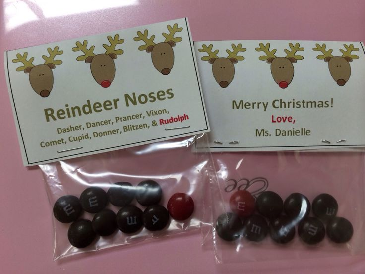 """Christmas gift: m&ms-""""reindeer noses""""   My Crafts   Pinterest"""