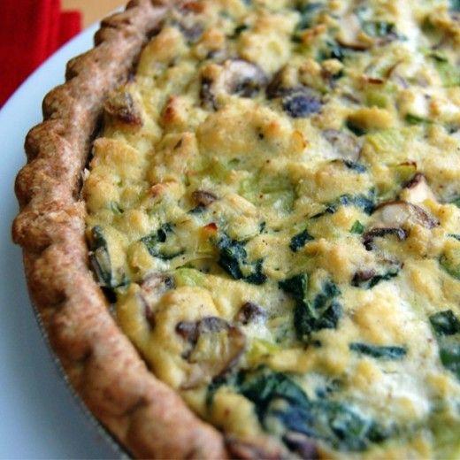 Vegan Recipe: Leek and Mushroom Vegan Quiche Recipe 'egg free'