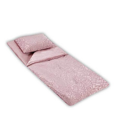Look at this silver pink rose sleeping bag by thro on zulily today