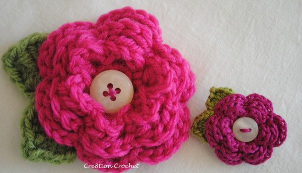 Crochet Flower Pin Patterns Free : Flower Pin Free Crochet Pattern Crochet Pinterest