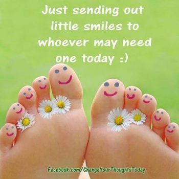 Sending out SMILES & happiness ~ from head to TOES