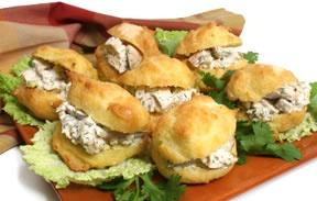 Chicken Salad Puffs | Sandwiches | Pinterest